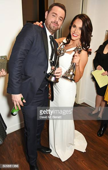 Danny Dyer and Vicky Pattison pose in the winner's room at the 21st National Television Awards at The O2 Arena on January 20 2016 in London England