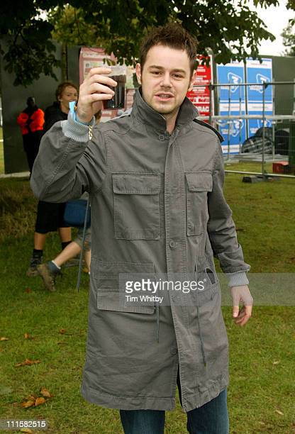 Danny Dyer during V Festival 2005 Chelmsford Day One Backstage at Hylands Park in Chelmsford Great Britain