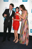 Danny Dyer Kym Ryder and Lisa Snowdon during British Soap Awards Press Room at BBC Television Centre in London Great Britain