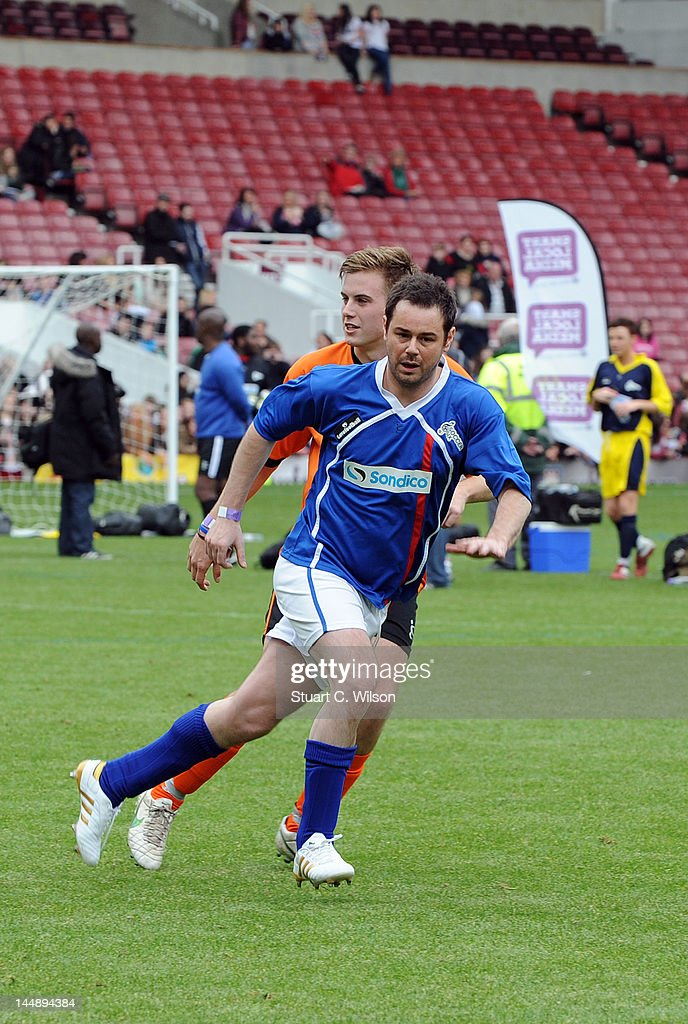 Danny Dyer plays during the Celebrity Soccer Six 2012 Tournament at Upton Park on May 20, 2012 in London, England.