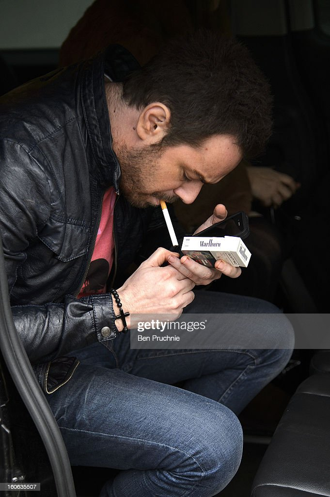Danny Dyer sighted arriving at ITV Studios on February 4, 2013 in London, England.