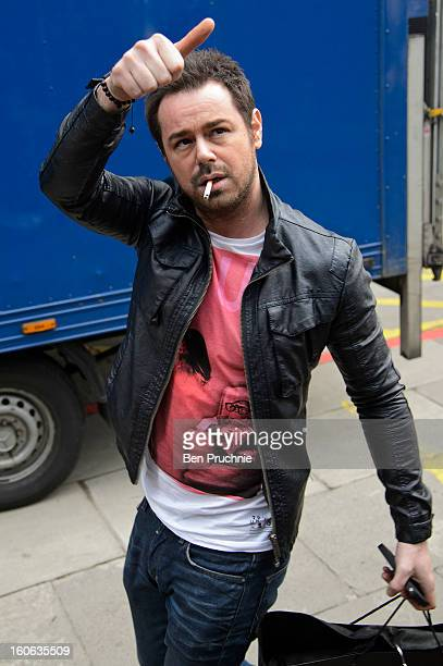 Danny Dyer sighted arriving at ITV Studios on February 4 2013 in London England