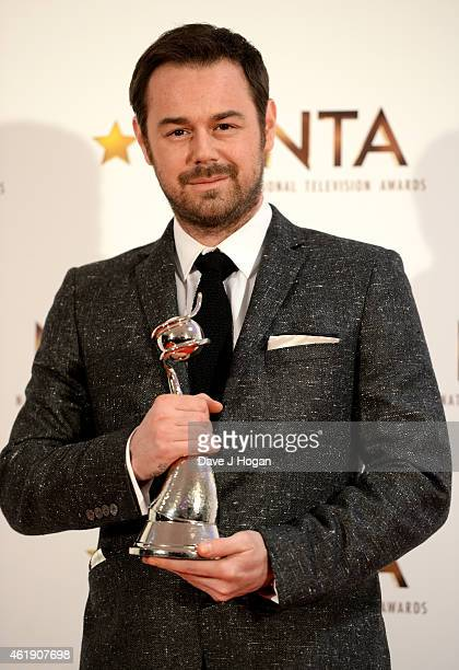 Danny Dyer winner of the Serial Drama award poses in the winners room at the National Television Awards at 02 Arena on January 21 2015 in London...