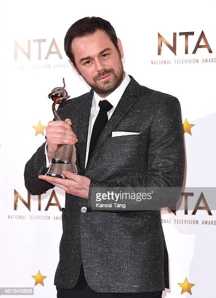 Danny Dyer winner of the Serial Drama Performance award poses in the winners room at the National Television Awards at 02 Arena on January 21 2015 in...