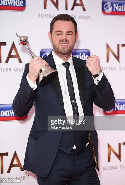 Danny Dyercleebrates with his awrds during the 21st National Television Awards press room at The O2 Arena on January 20 2016 in London England