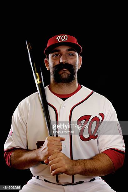 Danny Espinosa of the Washington Nationals poses for a portrait during photo day at Space Coast Stadium on March 1 2015 in Viera Florida