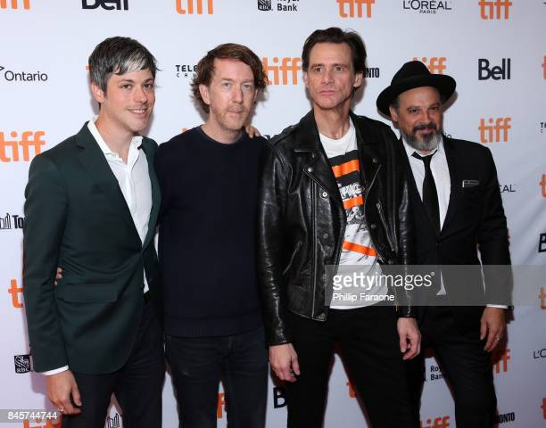 Danny Gabai Chris Smith Jim Carrey and Eddy Moretti attend the 'Jim Andy The Great Beyond' premiere during the 2017 Toronto International Film...