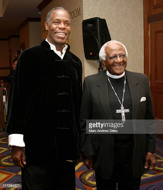 Danny Glover and Archbishop Emeritus Desmond Tutu during South Africa Partners Benefit Gala Honoring Danny Glover with the Desmond Tutu Award at...