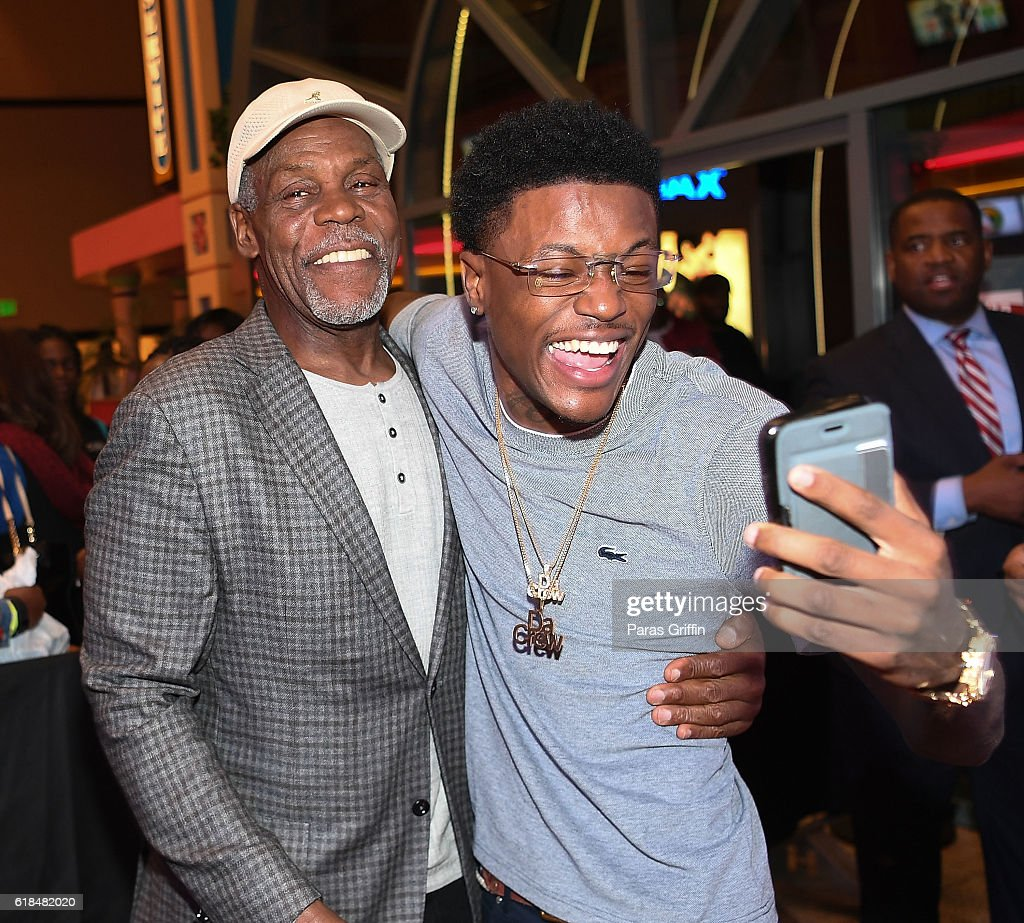 Danny Glover and DC Young Fly attend 'Almost Christmas' Atlanta screening at Regal Cinemas Atlantic Station Stadium 16 on October 26, 2016 in Atlanta, Georgia.