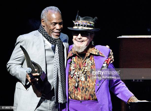 Danny Glover and Dr John perform live during the 15th Annual 'A Great Night in Harlem' Gala at The Apollo Theater on October 27 2016 in New York City