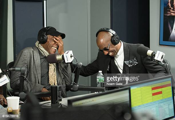 Danny Glover and J B Smoove visit the SiriusXM Studio on October 31 2016 in New York City