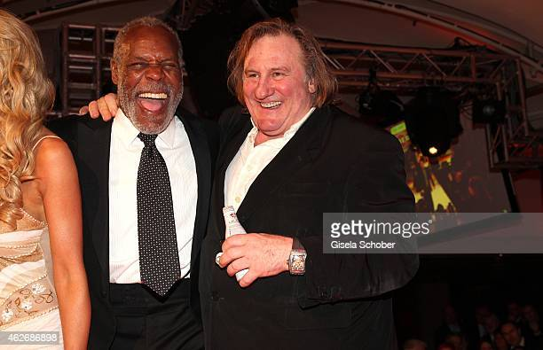 Danny Glover Gerard Depardieu during the Lambertz Monday Night 2015 at Alter Wartesaal on February 2 2015 in Cologne Germany