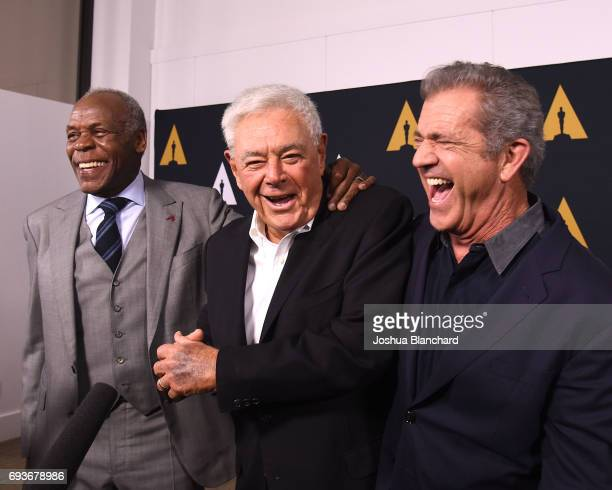 Danny Glover Richard Donner and Mel Gibson arrive at The Academy Celebrates Filmmaker Richard Donner at Samuel Goldwyn Theater on June 7 2017 in...
