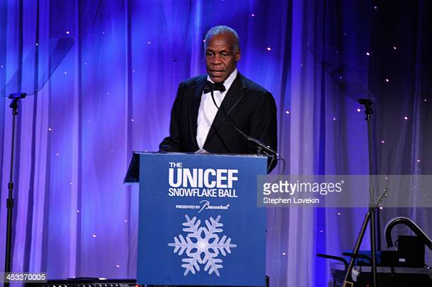 Danny Glover speaks onstage at The Ninth Annual UNICEF Snowflake Ball at Cipriani Wall Street on December 3 2013 in New York City