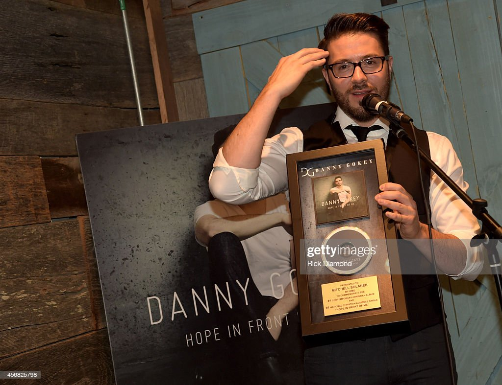 Danny Gokey Celebrates #1 Song 'Hope In Front Of Me' And Billboard #1 Album Debut on the Christain charts at The Well Coffeehouse on October 7, 2014 in Nashville, Tennessee.