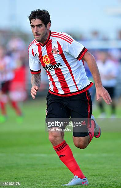 Danny Graham of Sunderland in action during a pre season friendly between Darlington and Sunderland at Heritage Park on July 9 2015 in Bishop...