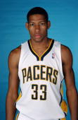 Danny Granger of the Indiana Pacers poses for a portrait during the Pacers Media Day on October 3 2005 at Conseco Fieldhouse in Indianapolis Indiana...