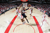 Danny Granger of the Indiana Pacers shoots the ball over Shane Battier of the Houston Rockets on February 20 2010 at the Toyota Center in Houston...