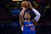 Danny Granger of the Los Angeles Clippers shoots a free throw in Game One of the Western Conference Semifinals against the Oklahoma City Thunder...