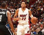 Danny Granger of the Miami Heat handles the ball against the Brooklyn Nets on January 4 2015 at American Airlines Arena in Miami Florida NOTE TO USER...