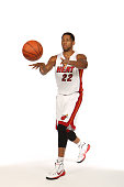 Danny Granger of the Miami Heat poses for a portrait during 2014 Media Day at the America Airlines Arena in Miami Florida NOTE TO USER User expressly...