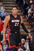 Danny Granger of the Miami Heat stands on the court during the game against the Sacramento Kings on January 16 2015 at Sleep Train Arena in...