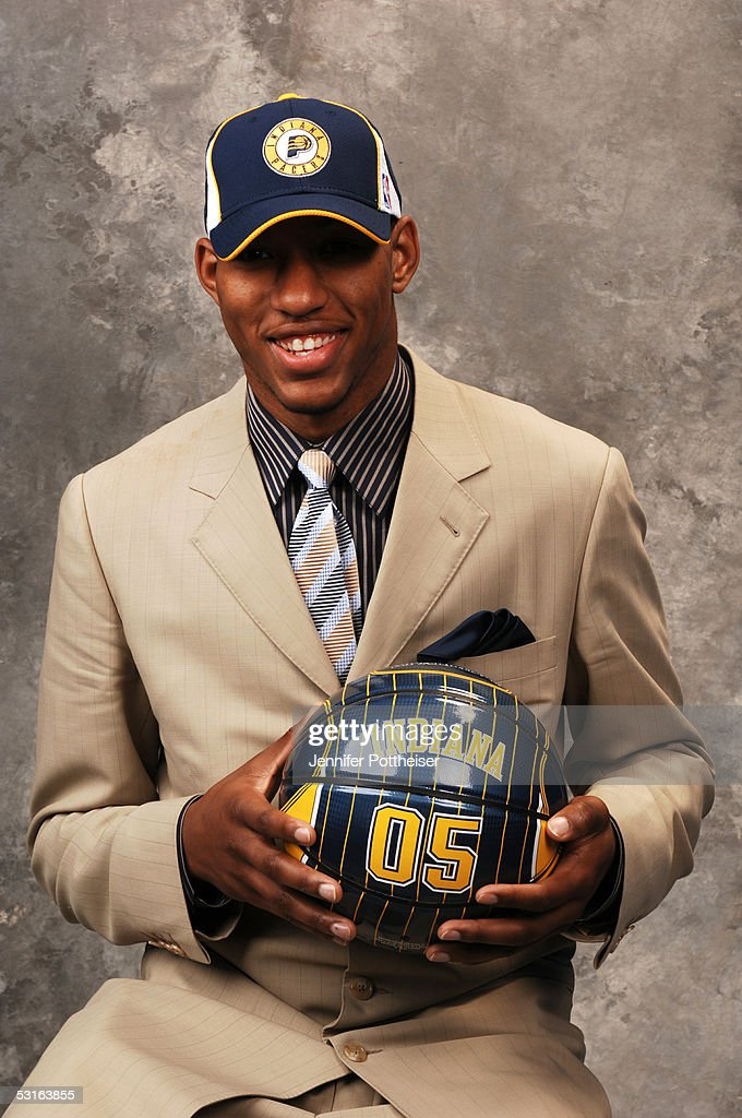 Danny Granger poses for a portrait after being selected #17 by the Indiana Pacers during the 2005 NBA Draft on June 28, 2005 at the Theater at Madison Square Garden in New York City.