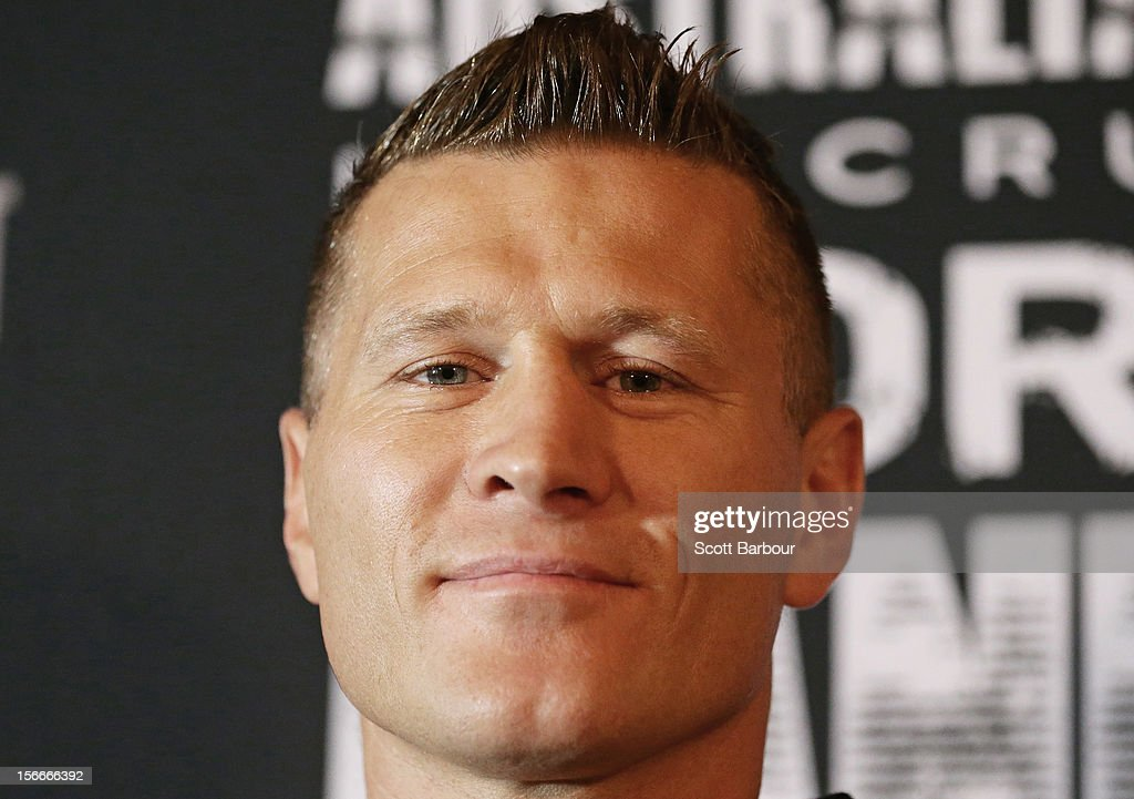 Danny Green of Australia poses during a press conference at Crown Entertainment Complex on November 19, 2012 in Melbourne, Australia. Danny Green and Shane Cameron meet in an IBO World Title bout on Wednesday.