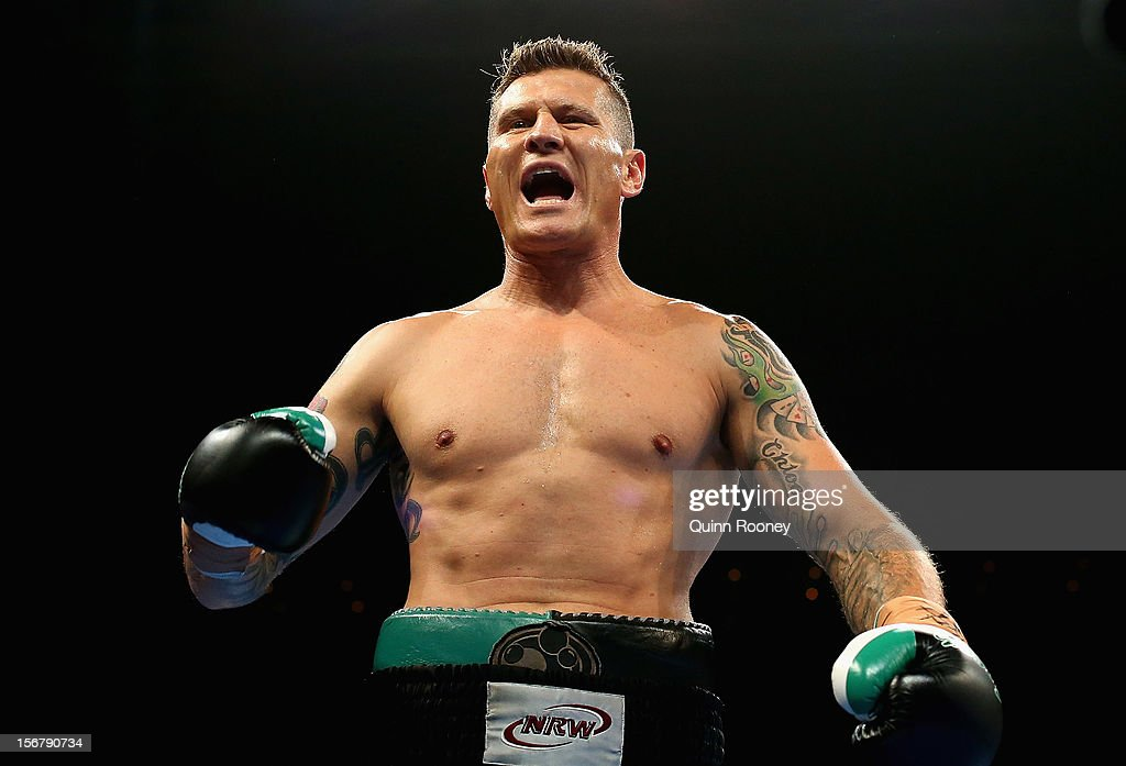 Danny Green of Australia prepares to fight in his world title bout between Danny Green of Australia and Shane Cameron of New Zealand at Hisense Arena on November 21, 2012 in Melbourne, Australia.