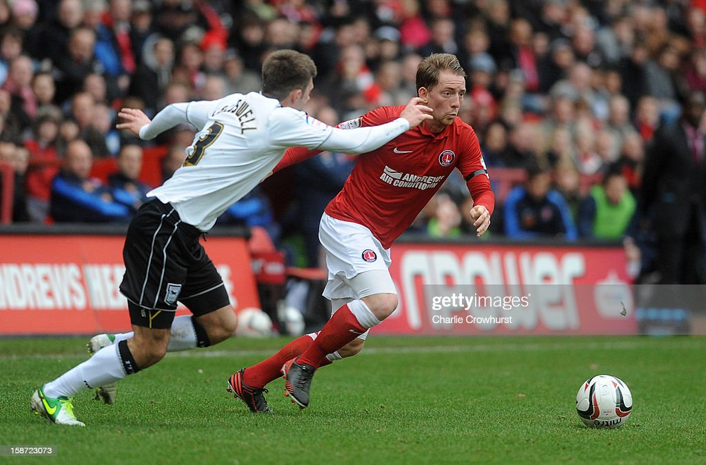 Danny Green of Charlton Athletic attacks during the npower Championship match between Charlton Athletic and Ipswich Town at The Valley on December 26, 2012 in London, England.