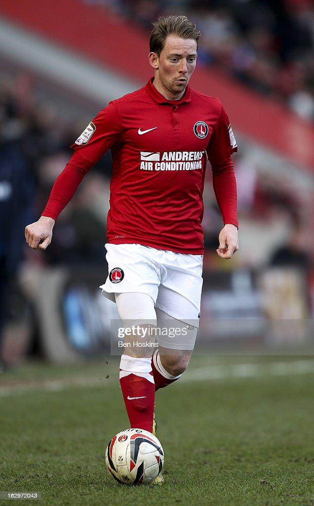 Danny Green of Charlton in action during the npower Championship match between Charlton Athletic and Burnley at the Valley on March 02, 2013 in London, England.