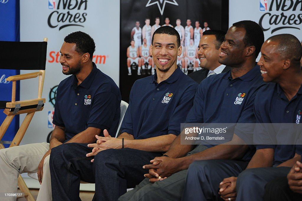 Danny Green of the San Antonio Spurs at the 2013 NBA Cares Legacy Project as part of the 2013 NBA Finals on June 7, 2013 at the Wheatley Middle School in San Antonio, Texas.
