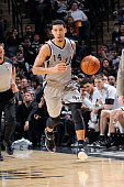 Danny Green of the San Antonio Spurs drives down the court against the Washington Wizardsduring the game on January 3 2015 at ATT Center in San...