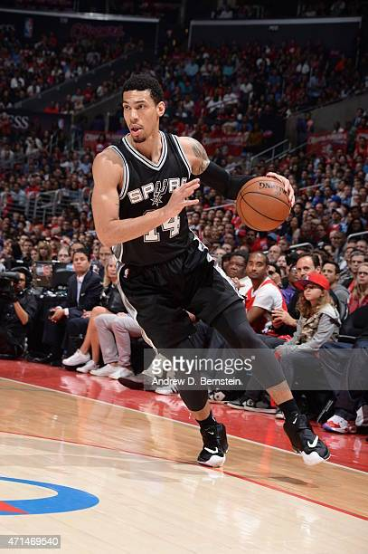 Danny Green of the San Antonio Spurs drives to the basket against the Los Angeles Clippers in Game Five of the Western Conference Quarterfinals...