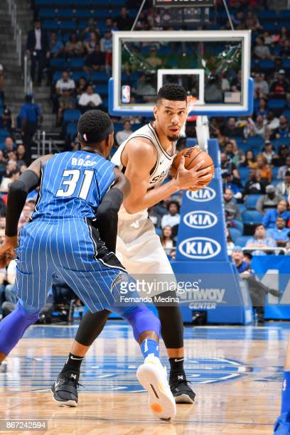 Danny Green of the San Antonio Spurs handles the ball against the Orlando Magic on October 27 2017 at Amway Center in Orlando Florida NOTE TO USER...