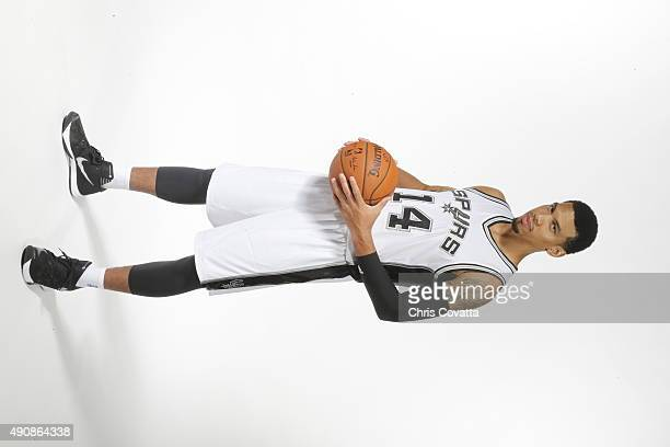 Danny Green of the San Antonio Spurs poses for a portrait during media day at the Spurs Training Facility on September 28 2015 in San Antonio Texas...