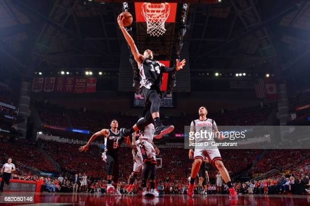 Danny Green of the San Antonio Spurs shoots a lay up during the game against the Houston Rockets during Game Six of the Western Conference Semifinals...