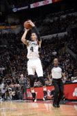 Danny Green of the San Antonio Spurs shoots against the Oklahoma City Thunder in Game One of the Western Conference Finals during the 2014 NBA...