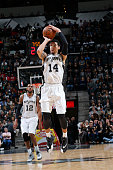 Danny Green of the San Antonio Spurs shoots the ball against the Washington Wizards on December 16 2015 at the ATT Center in San Antonio Texas NOTE...