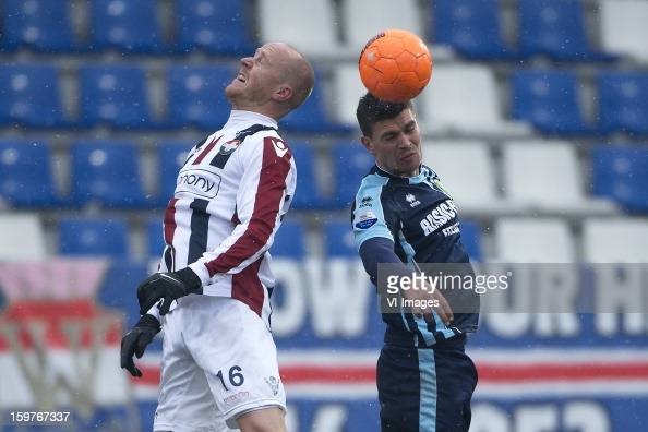 Danny Guyt of Willem II Danny Holla of ADO Den Haag during the Dutch Eredivise match between Willem II and ADO Den Haag at the Koning Willem II...