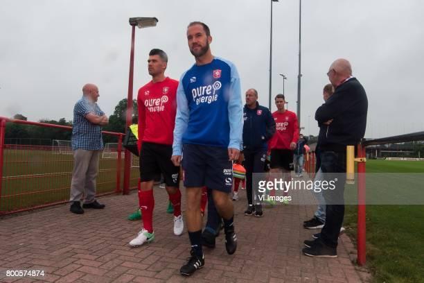 Danny Holla of FC Twente assistent trainer Sjors Ultee of FC Twenteduring a training session at Trainingscentrum Hengelo on June 24 2017 in Hengelo...