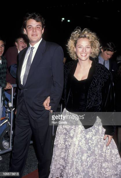 Danny Huston and Virginia Madsen during 1988 ACE Awards at Wiltern Theater in Los Angeles California United States