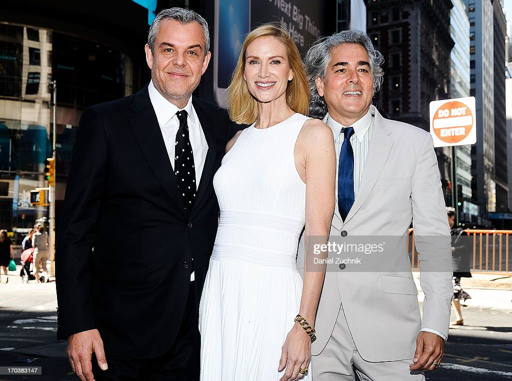 <a gi-track='captionPersonalityLinkClicked' href=/galleries/search?phrase=Danny+Huston&family=editorial&specificpeople=211465 ng-click='$event.stopPropagation()'>Danny Huston</a>, <a gi-track='captionPersonalityLinkClicked' href=/galleries/search?phrase=Kelly+Lynch&family=editorial&specificpeople=203037 ng-click='$event.stopPropagation()'>Kelly Lynch</a> and <a gi-track='captionPersonalityLinkClicked' href=/galleries/search?phrase=Mitch+Glazer&family=editorial&specificpeople=666735 ng-click='$event.stopPropagation()'>Mitch Glazer</a> visit the NASDAQ MarketSite on June 12, 2013 in New York City.