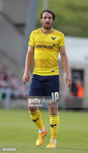 Danny Hylton of Oxford United in action during the Sky Bet League Two match between Northampton Town and Oxford United at Sixfields Stadium on...