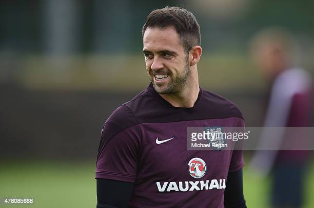 Danny Ings looks on during the England U21 Training Session on June 22 2015 in Olomouc Czech Republic