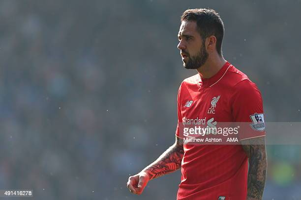 Danny Ings of Liverpool during the Barclays Premier League match between Everton and Liverpool at Goodison Park on October 04 2015 in Liverpool...