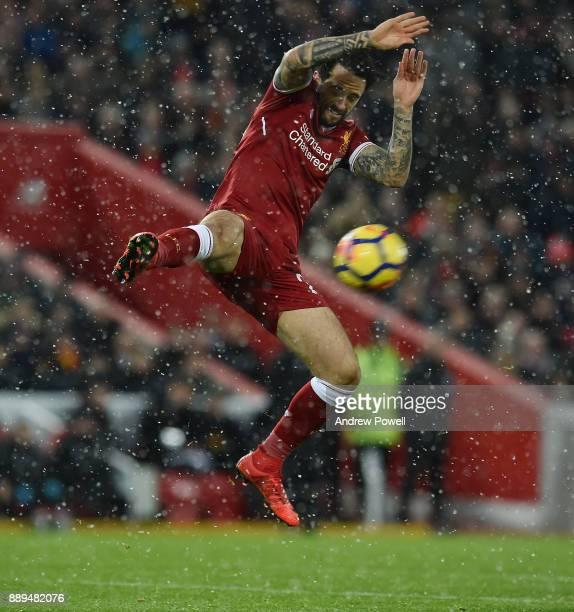 Danny Ings of Liverpool during the Premier League match between Liverpool and Everton at Anfield on December 10 2017 in Liverpool England
