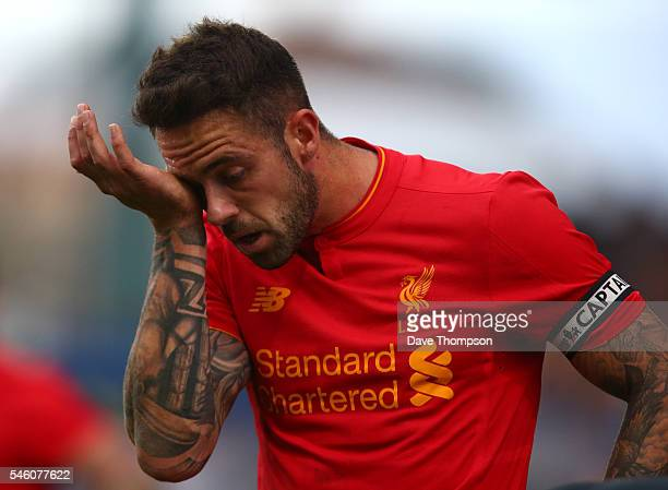 Danny Ings of Liverpool during the PreSeason Friendly match between Tranmere Rovers and Liverpool at Prenton Park on July 8 2016 in Birkenhead England