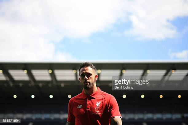Danny Ings of Liverpool is seen prior to the Barclays Premier League match between West Bromwich Albion and Liverpool at The Hawthorns on May 15 2016...