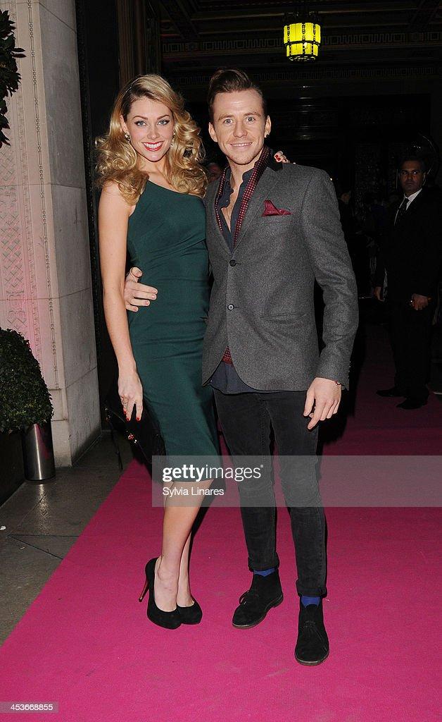 Danny Jones and Georgia Horsley arrive at Freemasons Hall on December 4, 2013 in London, England.